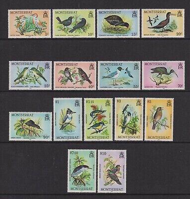 Montserrat - 1984, 5c - $10 Birds Complete set - MNH - SG 600/14