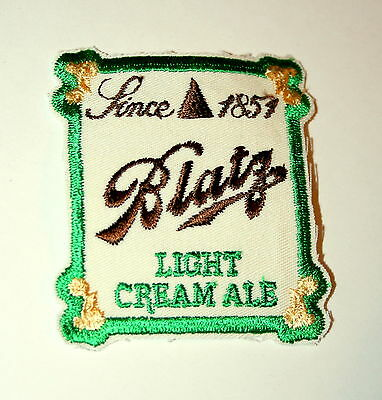 Vtg Blatz Brewing Light Cream Ale Beer Distributor Cloth Patch 1960s NOS New