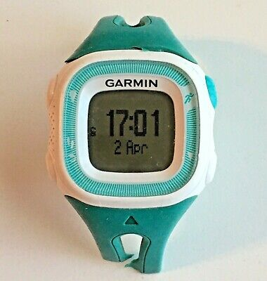 Garmin Forerunner 15 (Teal + White) GPS Running Watch w/ Charging Cable (AS-IS)