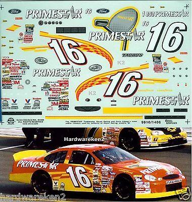 NASCAR DECAL #16 PRIMESTAR 1999 FORD TAURUS KEVIN LePAGE SLIXX