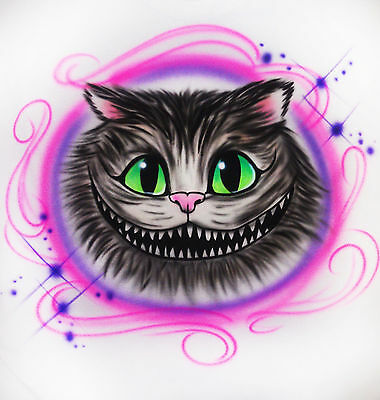 Cheshire Cat Bodysuit (Airbrushed Personalized Cheshire Cat T-shirt Bodysuit Hoodie)