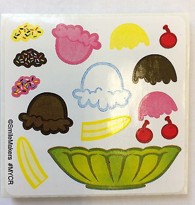 25 Make Your Own Ice Cream Sundae Stickers Party Favors Birthday Teacher (Ice Cream Sundae Party)