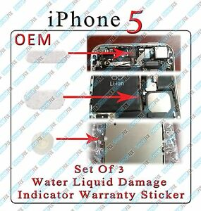 iphone water damage indicator set of 3 water damage indicator sticker for iphone 5 1968