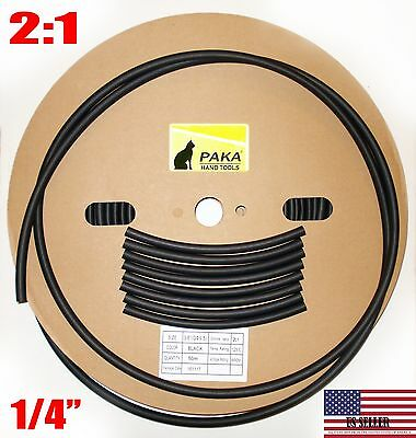 Made In Usa 21feet 21 Black 14 Inch 6 Mm Polyolefin 21 Heat Shrink Tubing