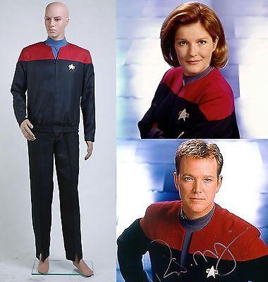 Star Trek Voyager Command Uniform Full Set Costume Red Halloween Party Show Cos - Star Trek Halloween Party