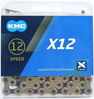 KMC X12 Gold /& Black 12-Speed Road//MTB Bike Chain 126L fit SRAM GX NX Eagle 12sp