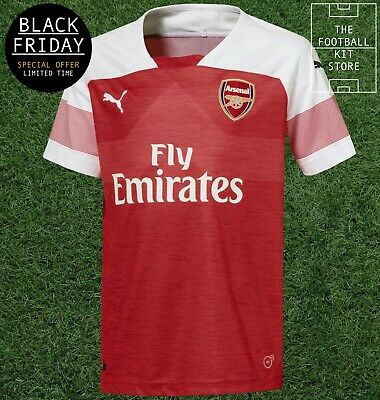 Arsenal Home Shirt - Official Puma Football Jersey - Boys Sizes - Black Friday