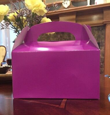 6 PURPLE PARTY FAVOR TREAT BOXES BAG GREAT FOR BIRTHDAYS WEDDING  BABY - Party Favor Bags For Baby Shower