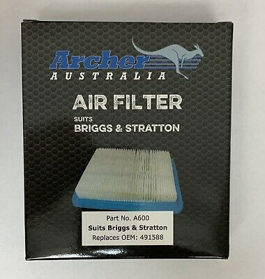 Air Filter Small Engine replaces Briggs & Stratton 399959 491588S BEST