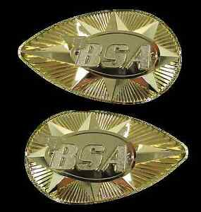 BSA motorcycle tank badges as fitted to B25 and A65 etc NEW pattern items
