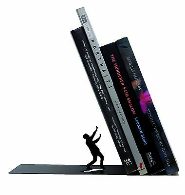 ARTORI Design Falling Bookend Books Stopper Holder Support Book End Reading Gift