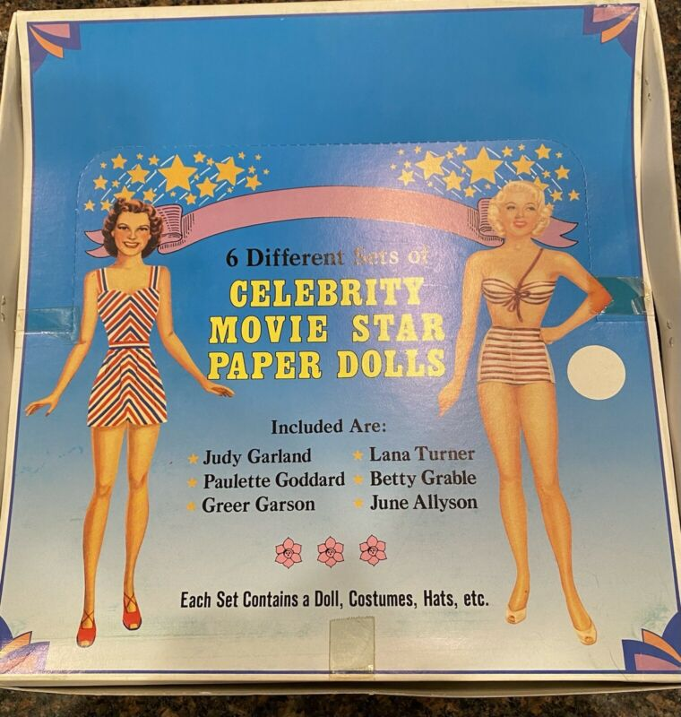 Shackman Celebrity Movie Star Paper Dolls