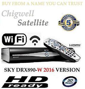 SKY + PLUS HD BOX WIFI - 500GB - AMSTRAD DRX890W BUILT IN WIFI ON DEMAND