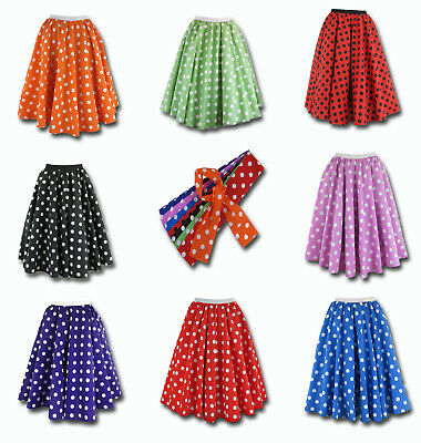 Rock and Roll Polka Dot Fancy Dress Skirt 50's Style Jive Rock and Roll Party