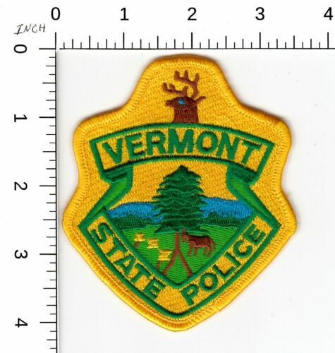 VERMONT STATE POLICE SHOULDER PATCH VT