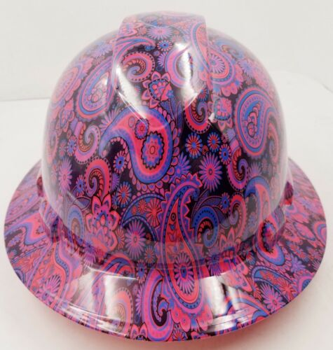 New Full Brim Hard Hat Custom Hydro Dipped HOT PINK Brad Paisleys .Free Shipping