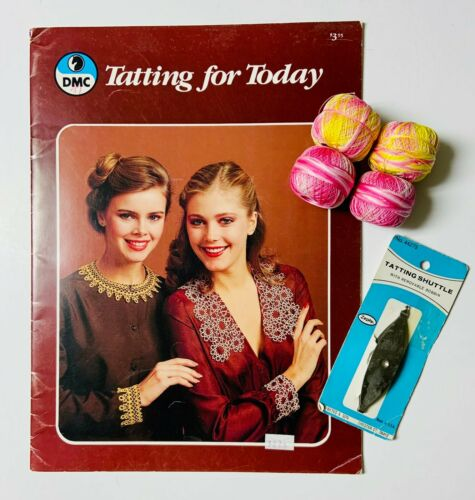 Tatting Thread with Tatting Tool and Tatting for today Book
