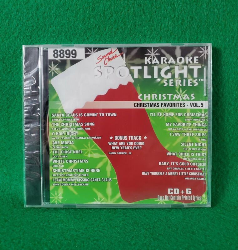 Karaoke Spotlight Series CD+G Sound Choice Disc 8899 Christmas Favorites Vol. 5