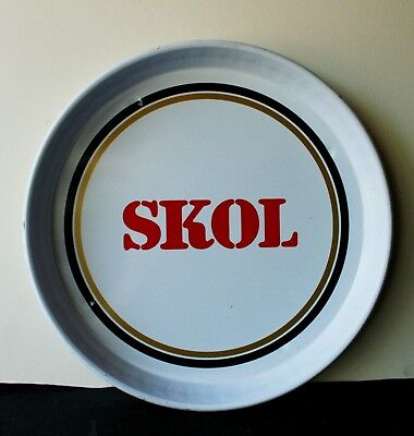 Vintage Skol lager  Pub Beer Advertising tray Retro