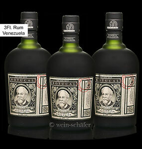 BOTUCAL Ron Rum Reserva Exclusiva / 3 Flaschen / 12 Jahre Venezuela Diplomatico