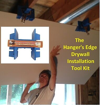 Drywall Tools (DIYer Installation Kit or Drywall Lift) -The Hanger's Edge 2 Pack for sale  Liberty