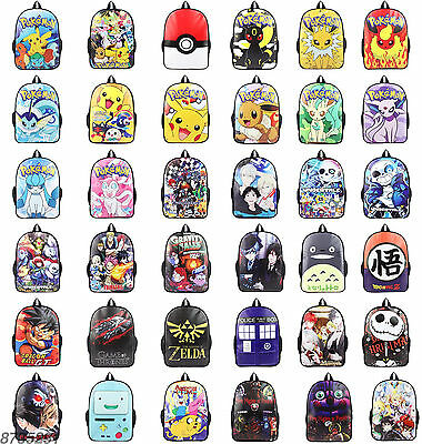 Sword Art Online Adventure Time Backpack Knapsack Packsack School Travel Bag