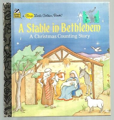 Children's Counting Books (Children's First Little Golden Book A STABLE IN BETHLEHEM Christmas Counting)