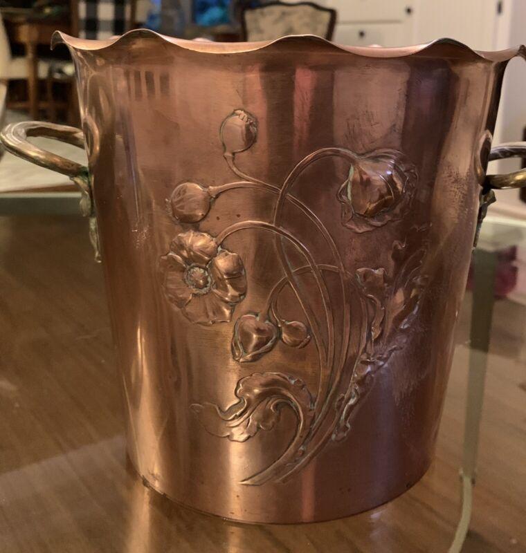Antique Art Nouveau WMF Copper Brass Ice/ Champagne Bucket
