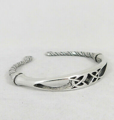 Celtic Twist Design Torc Bangle English Pewter Hand Made in England | Small TB07