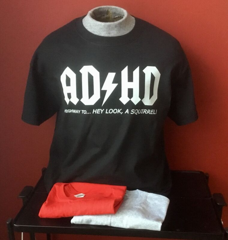 AD / HD GUITAR T-SHIRT SIZE XL and all other sizes