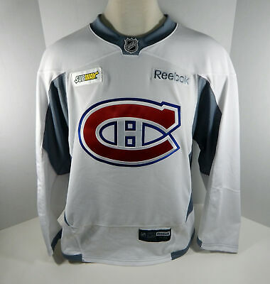 e1f575a5c3ad3 Montreal Canadiens Game Issued White Practice Jersey MTL0064