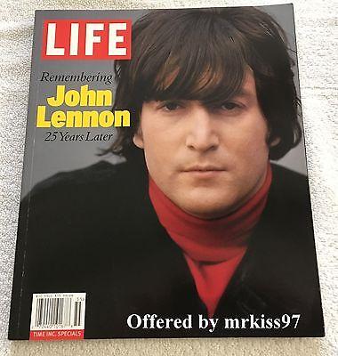 John Lennon LIFE Magazine 25 Years Later Beatles 2005 The Fab Four John & Yoko