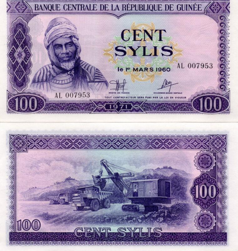 GUINEA Africa 100 Sylis UNC 1971 p-19