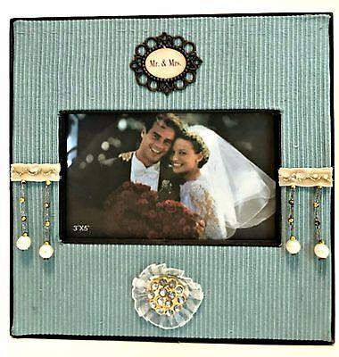 Timeless Elegance Picture Frame Mr. & Mrs. Holds 3 x 5 inch Photo Antique Theme (Elegant Wedding Themes)