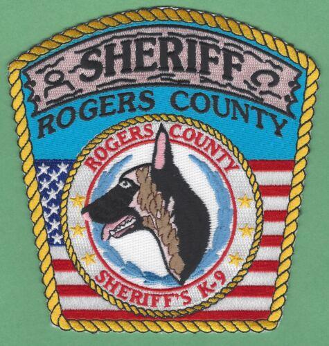 ROGERS COUNTY SHERIFF OKLAHOMA K-9 UNIT SHOULDER PATCH