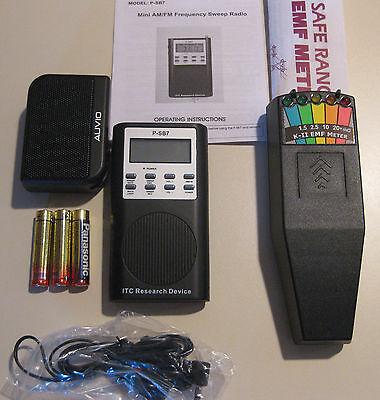 FM AM ~ P-SB7 Spirit EVP Box + K 2 Deluxe EMF GHOST HUNTING METER detector