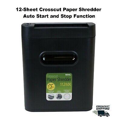 12-sheet Crosscut Paper Cd Dvd Shredder Home Office Auto Startstop Function