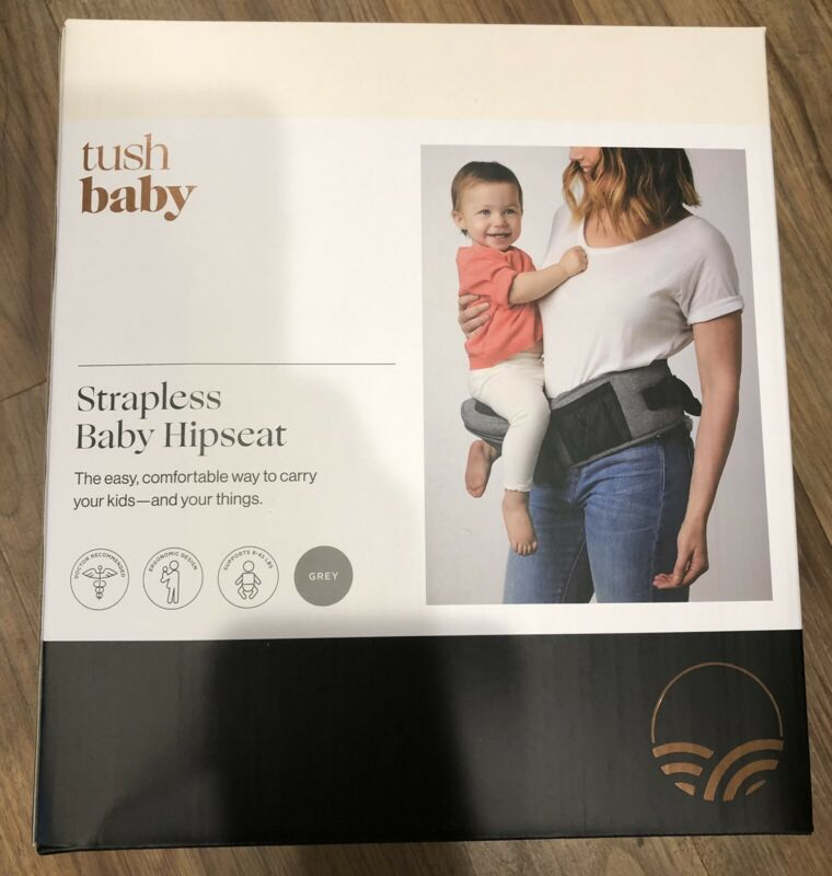 Tushbaby The Only Safety Certified Hip Baby Seat  Grey Waist Baby Carrier