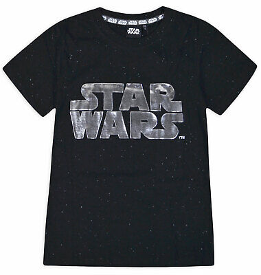 Boys Star Wars T-shirt Kids Short Sleeve 100% Cotton Black Top New Age 2-8 Years
