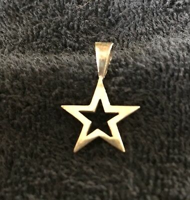 Sterling Silver ~2 grams Five-Point Thick Frame Star ⭐️ Pendant