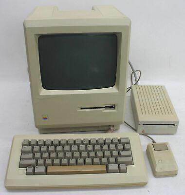 APPLE Macintosh 512K M0001W Vintage PC Mouse Keyboard & Floppy Drive Set