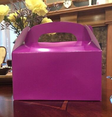 - 15 PURPLE PARTY FAVOR TREAT BOXES BAG GREAT FOR BIRTHDAYS WEDDING  BABY SHOWER