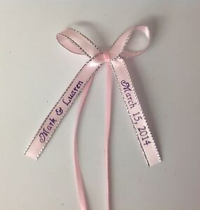 bows personalized satin ribbons party wedding baby shower favor ebay