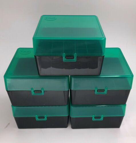 Plastic Ammo Box (Lot of 5) Shotgun, 25 Round, 12ga, 16ga, Made in USA, 12G25GB