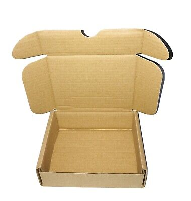 25 BROWN CARDBOARD BOXES POSTAL MAILING GIFT PACKET SMALL PARCEL 7