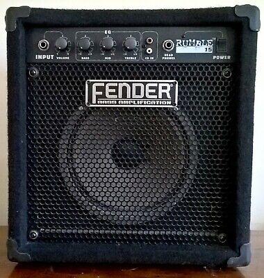 Fender Rumble 15 Bass Amplification Guitar Amp. segunda mano  Embacar hacia Mexico