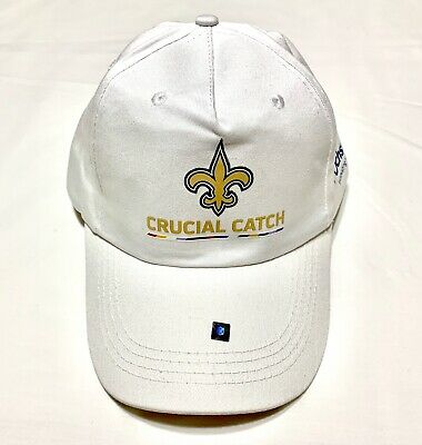New Orleans Saints 2019 SGA Crucial Catch White Hat Adjustable