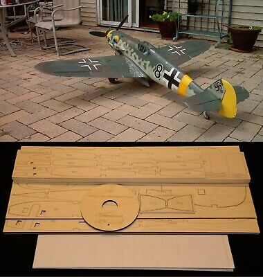 "78.5"" wing span Messerschmitt BF-109G R/c Plane short kit/semi kit and plans for sale  Shipping to India"