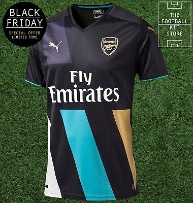 Arsenal Third Shirt - Official Puma Arsenal Football Jersey Boys - Black Friday