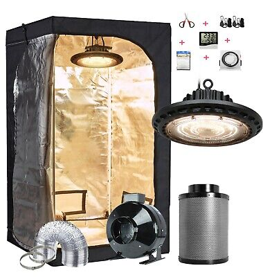 Grow Tent Kit Complete Package Setup UFO LED 300W Grow Light Indoor Plant Grow (Tent Package)